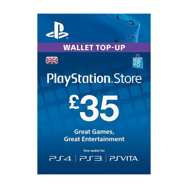 Virtualios piniginės papildymas PlayStation Network Card - £35