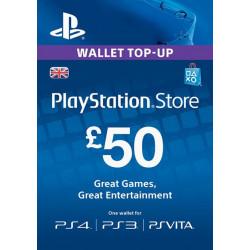 Virtualios piniginės papildymas PlayStation Network Card - £50