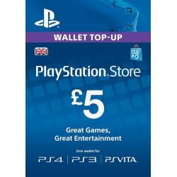 Virtualios piniginės papildymas PlayStation Network Card - £5