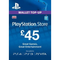 Virtualios piniginės papildymas PlayStation Network Card - £45