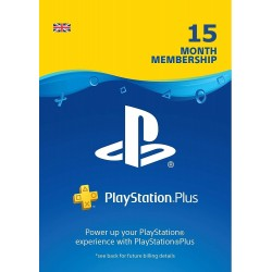 PS Plus 15 mėn UK paskyros kodas (PlayStation Plus Card 15 month card)  - 1