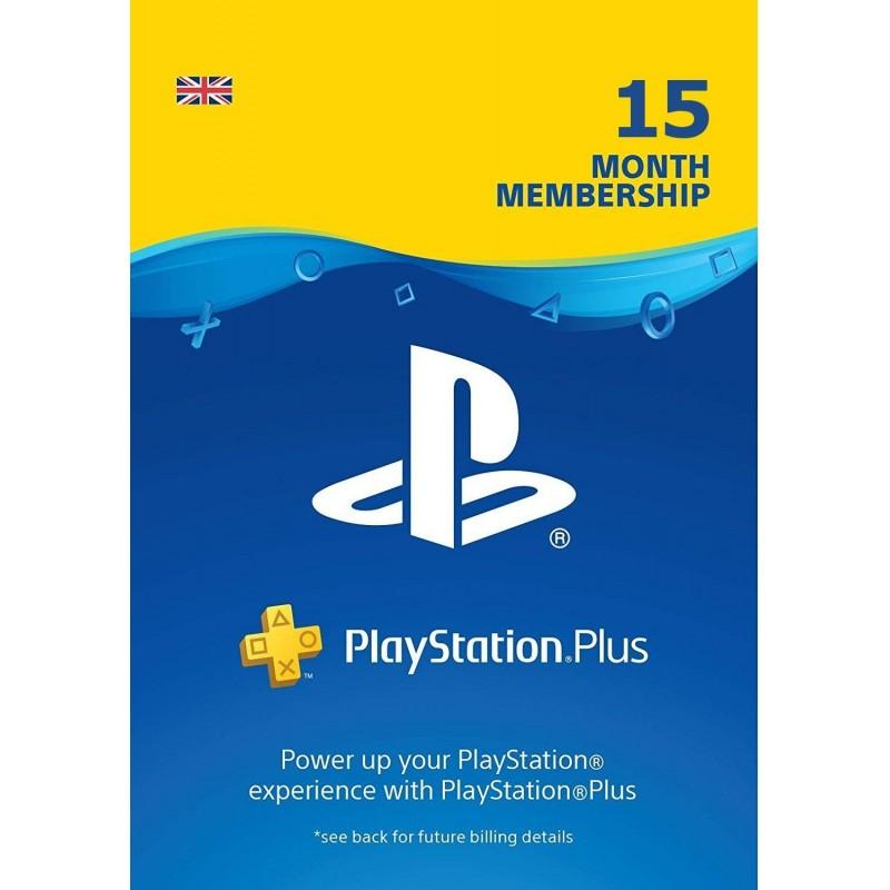 PS Plus 15 mėn UK paskyros kodas (PlayStation Plus Card 15 month card)  - 1