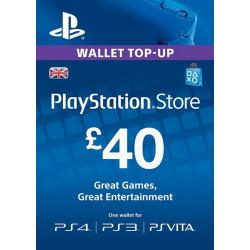 Virtualios piniginės papildymas PlayStation Network Card - £40  - 1