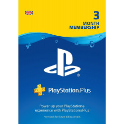 PS Plus 3 mėn UK paskyros kodas (PlayStation Plus Card 90 days card)