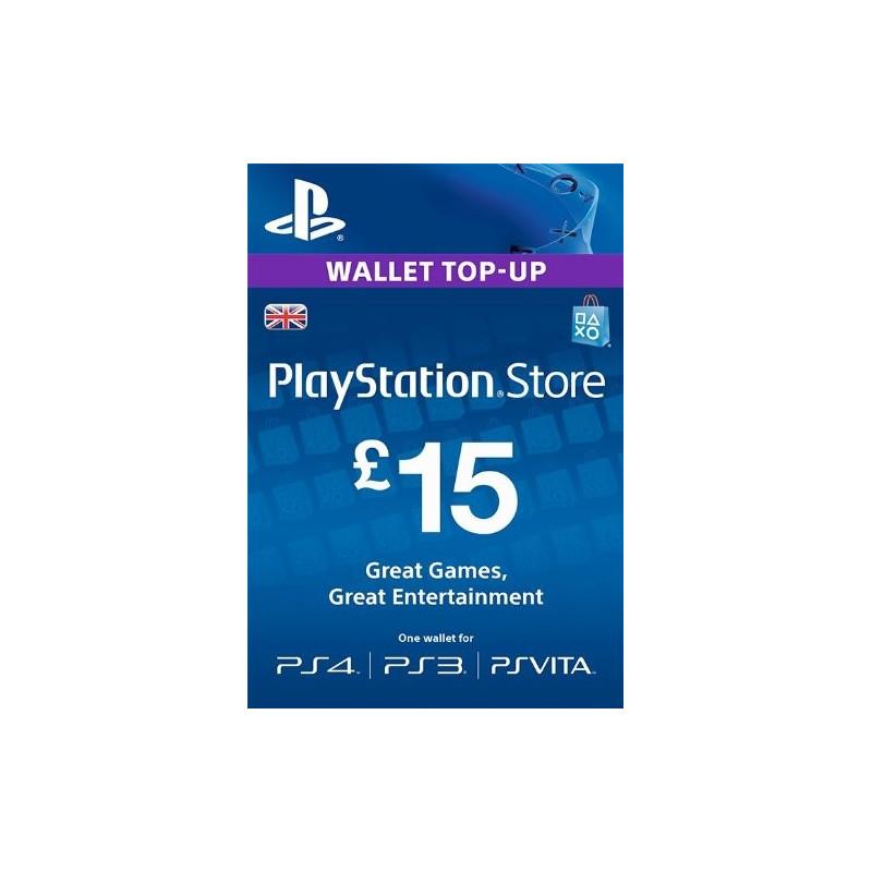 Virtualios piniginės papildymas PlayStation Network Card - £15