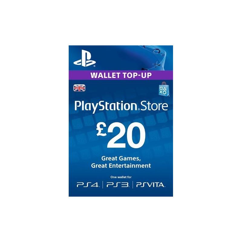 Virtualios piniginės papildymas PlayStation Network Card - £20